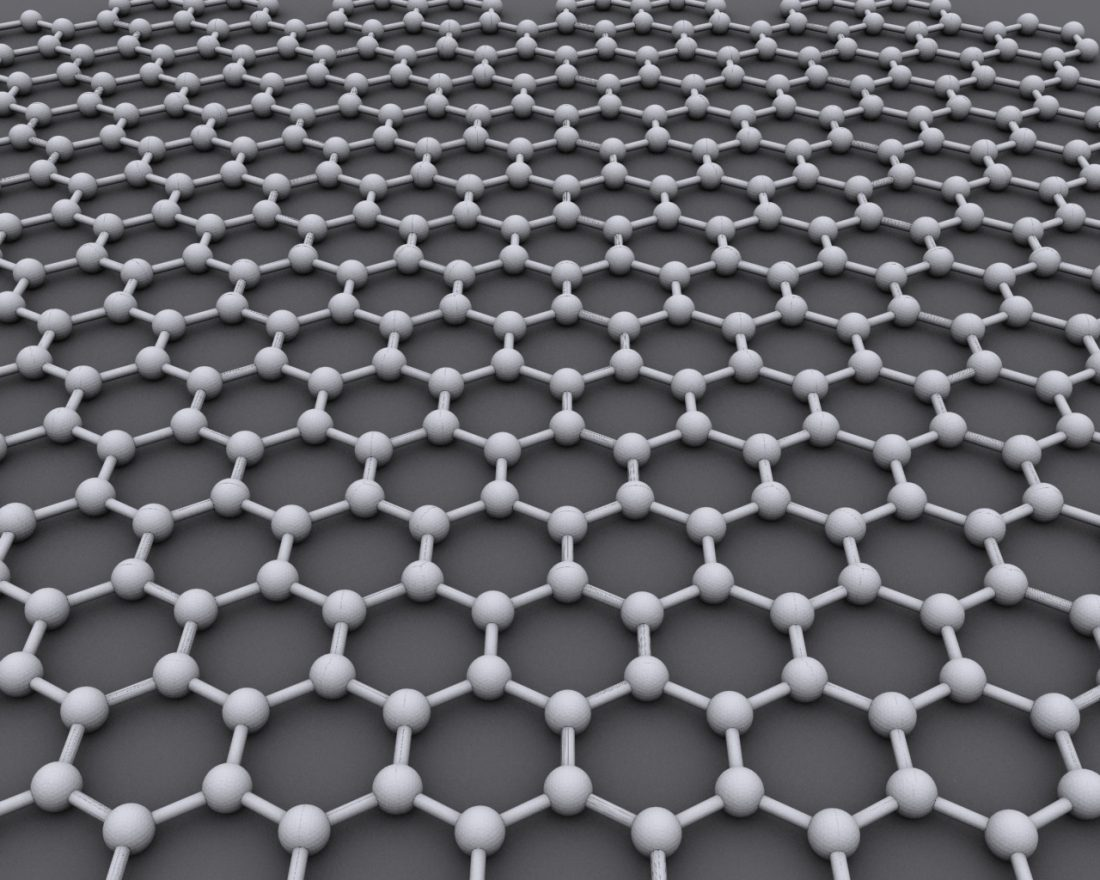 Graphene's one atom-thick structure. Image Courtesy: Wikimedia Commons