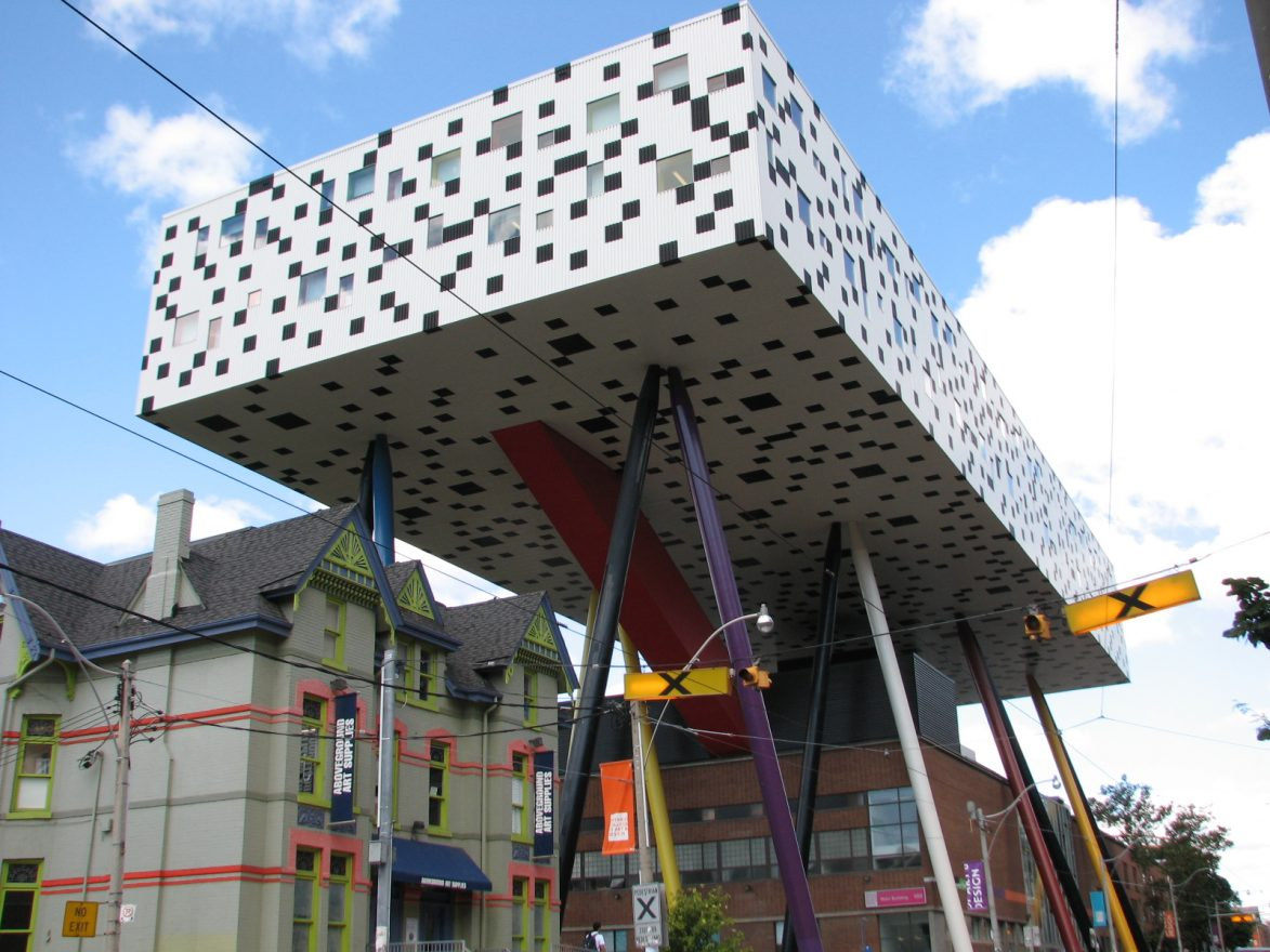 Ontario College of Art and Design's Sharp Center for Design, postmodern architecture.