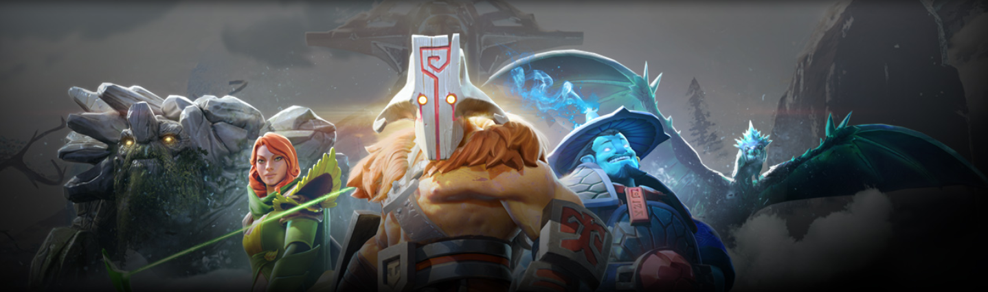 Dota 2 banner showing some heroes. Image courtesy: https://www.dota2.com