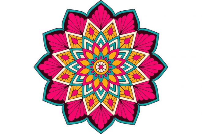 image of a colorful mandala