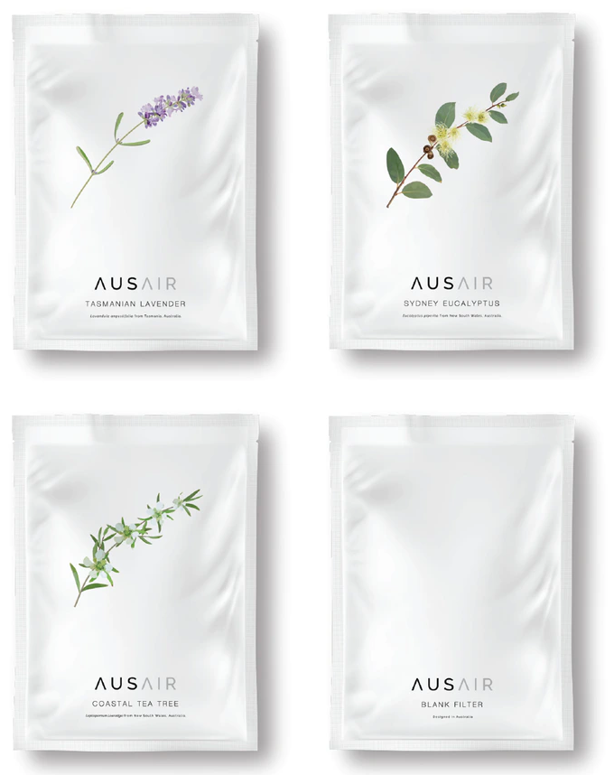 Selection of AusAir botanical filters for use in their masks. Image courtesy: AusAir