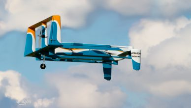 Latest Amazon Prime Air delivery drone design. Photo: Amazon